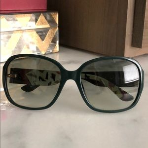 Gently worn Green Ferragamo sunglasses
